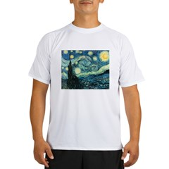 Vincent van Gogh's Starry Nigh Performance Dry T-Shirt