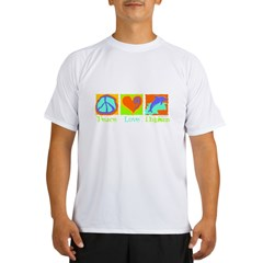 Peace Love Dolphins Performance Dry T-Shirt