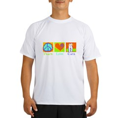 Peace Love Cats Performance Dry T-Shirt