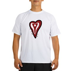 Valentine Dotty Heart Performance Dry T-Shirt
