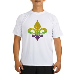 Fleur de lis Mardi Gras Performance Dry T-Shirt