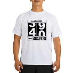40th Birthday Oldometer Performance Dry T-Shirt