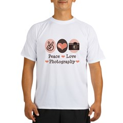 Peace Love Photography Camera Performance Dry T-Shirt