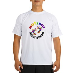 Autism Awareness Circle Performance Dry T-Shirt
