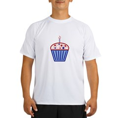 4th of July Cupcake Performance Dry T-Shirt