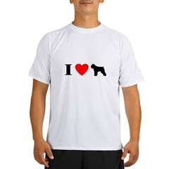 I Heart Bouvier des Flandres Performance Dry T-Shirt