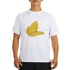 Yellow Butterfly Performance Dry T-Shirt