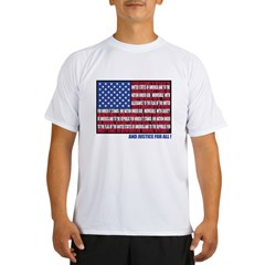 PLEDGE OF ALLEGIANCE FLAG Performance Dry T-Shirt