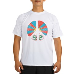 Free Tibet Peace Sign Performance Dry T-Shirt