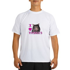 I Love ( Heart ) Wombats Performance Dry T-Shirt