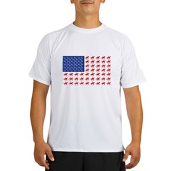 Original Patriotic Horse Flag Performance Dry T-Shirt
