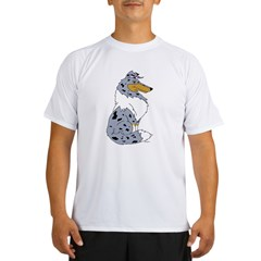 Blue Merle Rough Collie Performance Dry T-Shirt