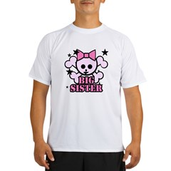 Pink bow skull big sister Performance Dry T-Shirt