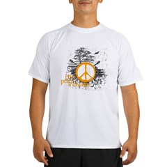 give_peace_scene_orange_dark Performance Dry T-Shirt