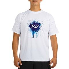 TKD Splatter Blue Performance Dry T-Shirt