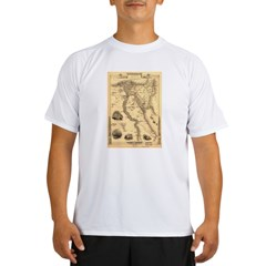 Ancient Egypt Map Performance Dry T-Shirt