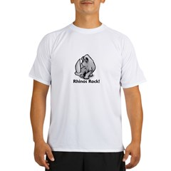 Rhinos Rock! Performance Dry T-Shirt