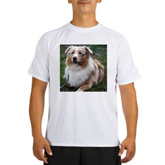 Red Merle Aussie Performance Dry T-Shirt