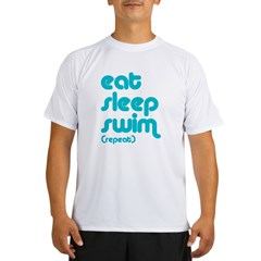 Eat, Sleep, Swim Performance Dry T-Shirt