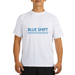 Blue Shift (front) Red Shift Performance Dry T-Shirt