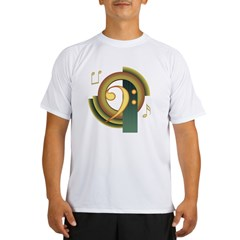 Bass Clef Deco Performance Dry T-Shirt