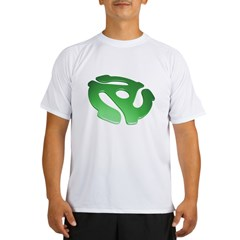 green-3d-45-rpm-adapter-dk Performance Dry T-Shirt