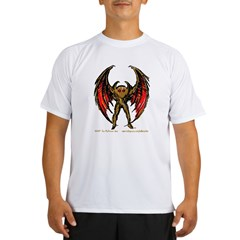 Mothman Sketch-Brown Performance Dry T-Shirt