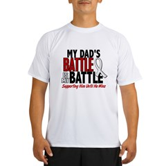 My Battle Too 1 PEARL WHITE (Dad) Performance Dry T-Shirt