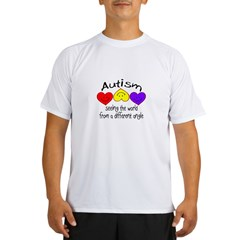 Autism, Seeing The World From A Different Angle Performance Dry T-Shirt