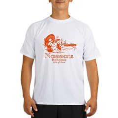 Bahamas Vintage Ad Performance Dry T-Shirt