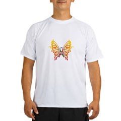 Autism Butterfly Ribbon Performance Dry T-Shirt