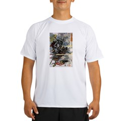 Japanese Samurai Warrior Narishige (Front) Performance Dry T-Shirt
