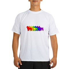 Rainbow Australian Terrier Performance Dry T-Shirt