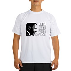 Obama - Hope Over Division - Grey Performance Dry T-Shirt