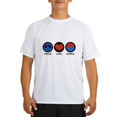 Peace Love Korea Performance Dry T-Shirt