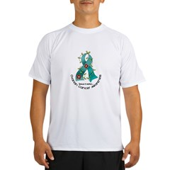 Flower Ribbon OVARIAN CANCER Performance Dry T-Shirt