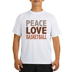 Peace Love Basketball Performance Dry T-Shirt