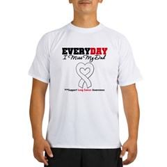 LungCancer MissMyDad Performance Dry T-Shirt