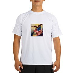 """Eagle with Flag"" Performance Dry T-Shirt"