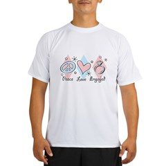 Peace Love Engaged Performance Dry T-Shirt