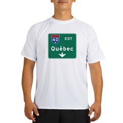 Quebec, Canada Hwy Sign Performance Dry T-Shirt