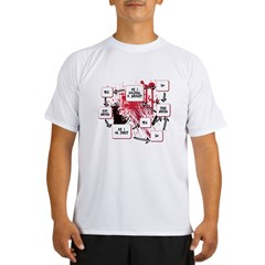 Zombie Thought Pattern Flow C Performance Dry T-Shirt