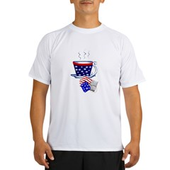 American Tea Cup and Bag Performance Dry T-Shirt