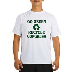 Go Green - Recycle Congress Performance Dry T-Shirt