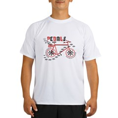 Pedals Cyclist Men's double dry short sleeve mesh Performance Dry T-Shirt