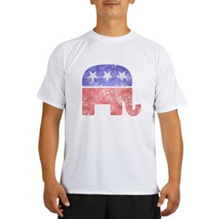 2-RepublicanLogoTexturedGreyBackgroundFadedTs Performance Dry T-Shirt