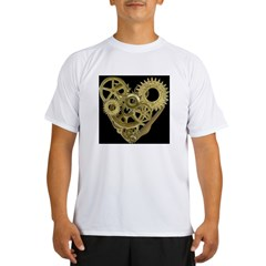 Women's Steampunk Heart T-Shirt (black) Performance Dry T-Shirt