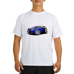 Veyron Black-Blue Car Performance Dry T-Shirt