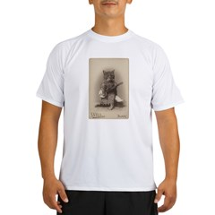 Cat Playing a Banjo Performance Dry T-Shirt