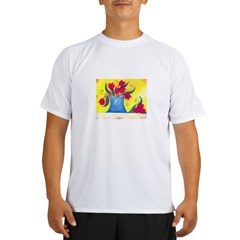 Red Tulips Performance Dry T-Shirt